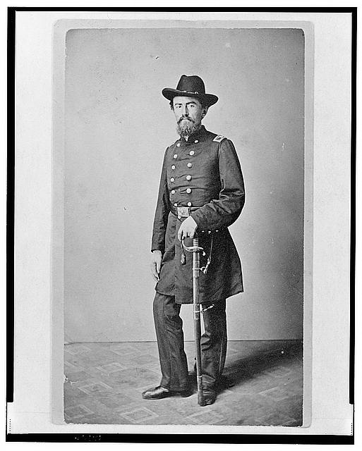 [Colonel Francis (Frank) Erdelmeyer, Union officer in the 32nd Indiana Regiment, full-length portrait, standing, facing front]