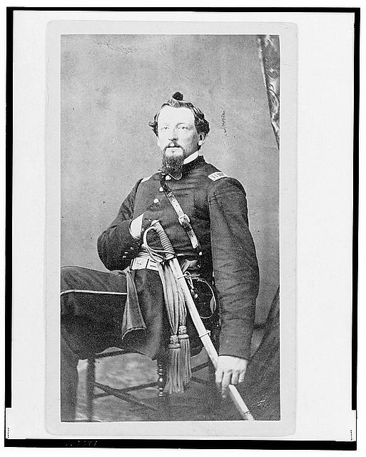 [Major Charles S. Cotter, Union officer, Chief of Artillery, full-length portrait, seated, facing front]