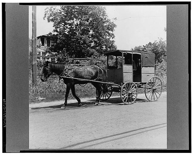 Mail wagon. Marshall, Texas