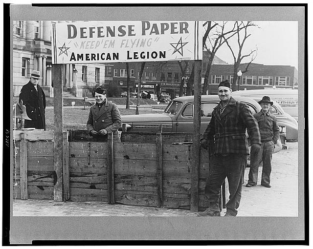 At the American Legion booth for collecting scrap paper. Chillicothe, Missouri