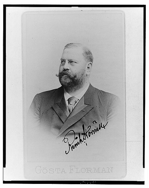 [Reinhold Hörnell, Swedish businessman involved in the timber industry, head-and-shoulders portrait, facing left]