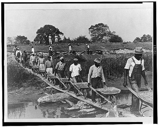 Levee workers, Plaquemines Parish, Louisiana