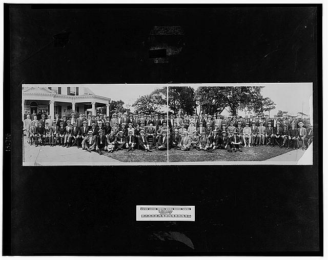 Visit of Democratic Members of House of Representatives to Gov. Woodrow Wilson, Sea Girt, N.J., July 20, 1912