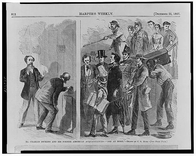 "Mr. Charles Dickens and his former American acquaintances - ""not at home"""