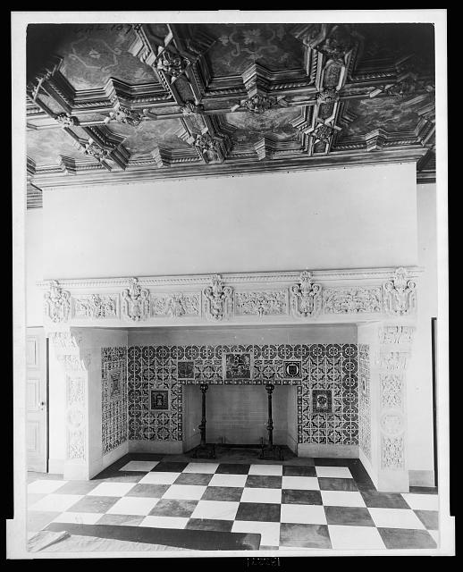 "[""Mi Sueño,"" Herbert Coppell house, 1245 South Grand Avenue, Pasadena, California. Dining room fireplace]"