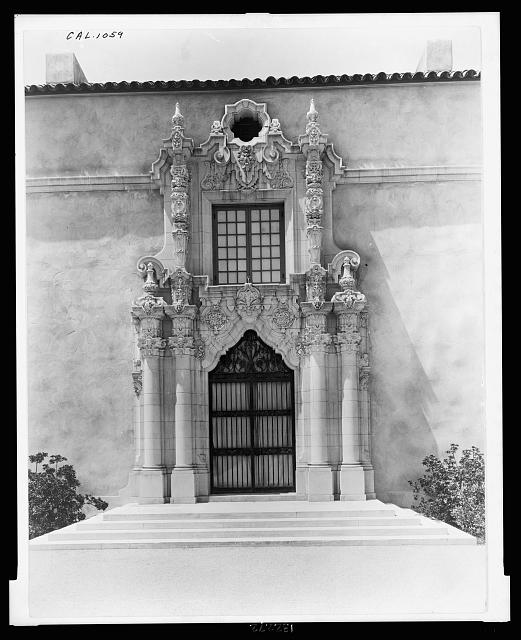 "[""Mi Sueño,"" Herbert Coppell house, 1245 South Grand Avenue, Pasadena, California. East entrance at driveway]"