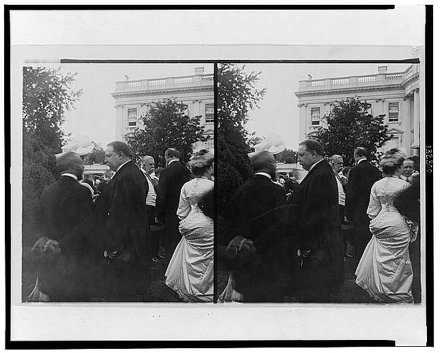 The genial secretary of war, William H. Taft, at the president's lawn party, White House, Washington