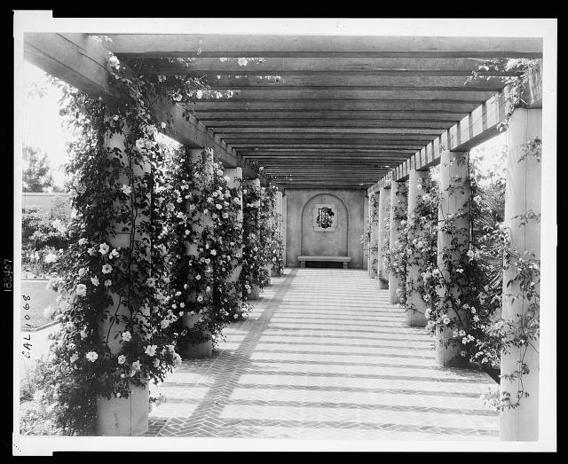 "[""Mi Sueño,"" Herbert Coppell house, 1245 South Grand Avenue, Pasadena, California. Pergola]"