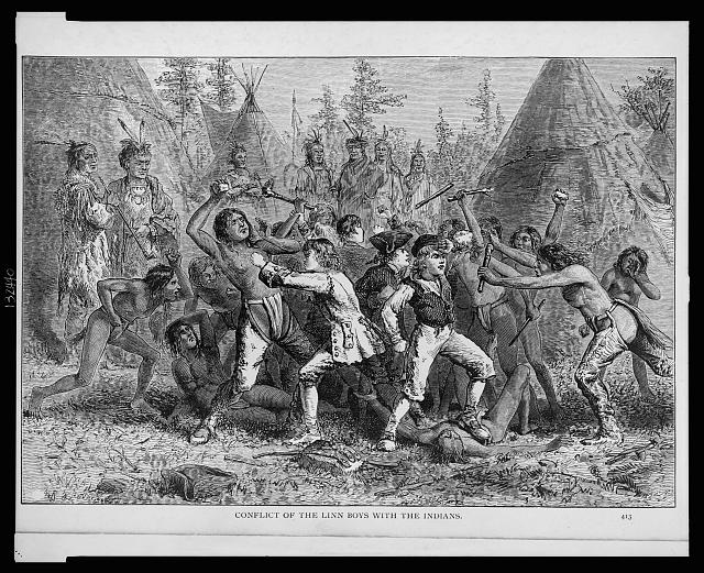 Conflict of the Linn boys with the Indians