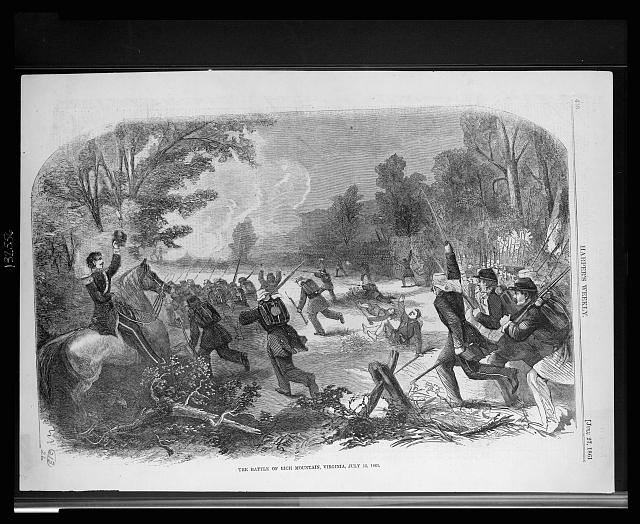 The battle of Rich mountain, Virginia, July 13, 1861