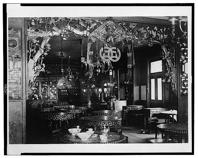 [Interior view of tearoom in Chinatown, New York City, N.Y.]