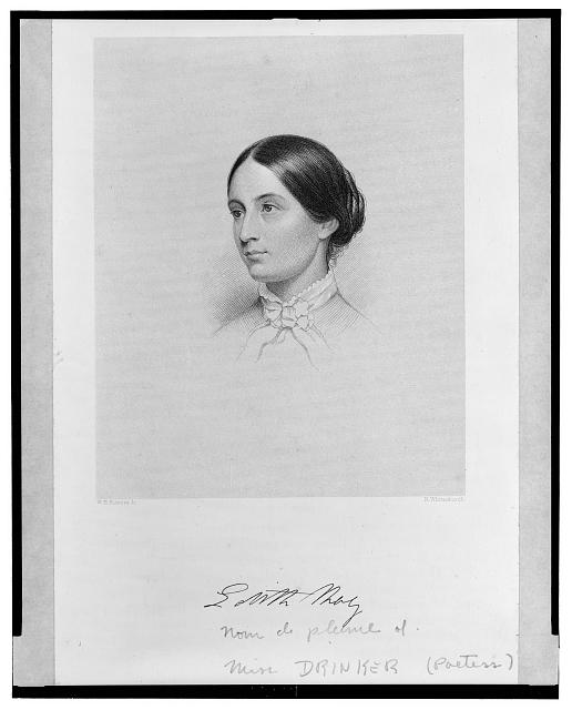 [Annie Drinker (Edith May), poet, bust portrait, facing left]