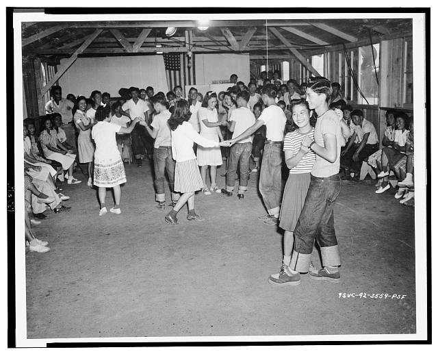 Dancing was an almost nighly [sic] diversion for the younger evacuees at the centers