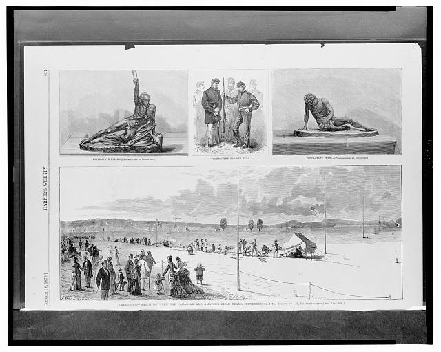 Creedmoor - match between the Canadian and amateur rifle teams, September 25, 1875