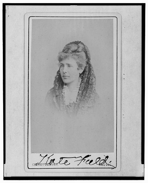 [Kate Field, American journalist and feminist, head-and-shoulders portrait, facing left]