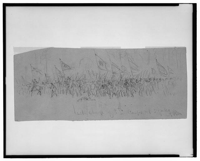 Last charge of 5th Corps at 5 Forks