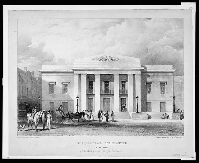 National Theatre, New York. J.W. Wallack, Esqr., lessee