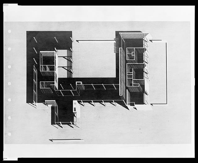 [Denman residence, Siesta Key, Florida. Plan. Projection]