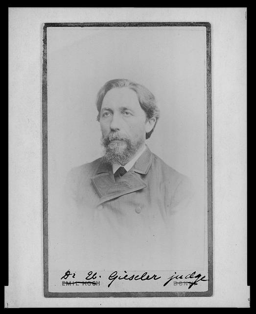 [Dr. Eberhard Gieseler, head-and-shoulders portrait, facing left]