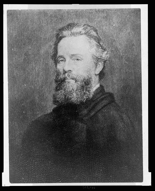 [Herman Melville, head-and-shoulders portrait, facing left]