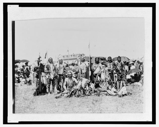Chief Running Wolf and party of Blackfoot Indians