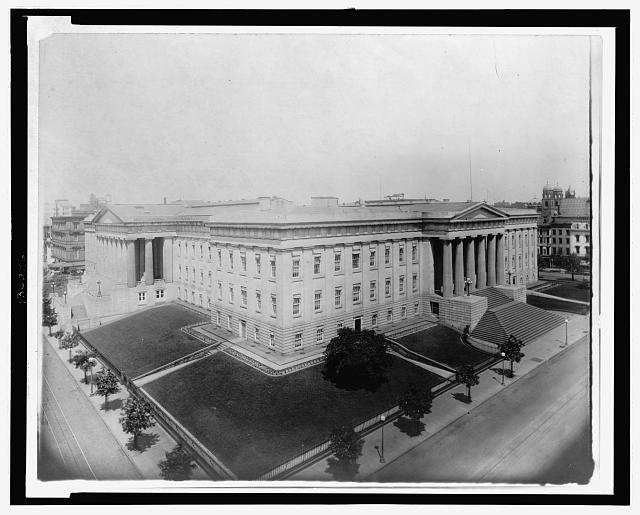 [Aerial view of the U.S. Patent Office, Washington, D.C.]
