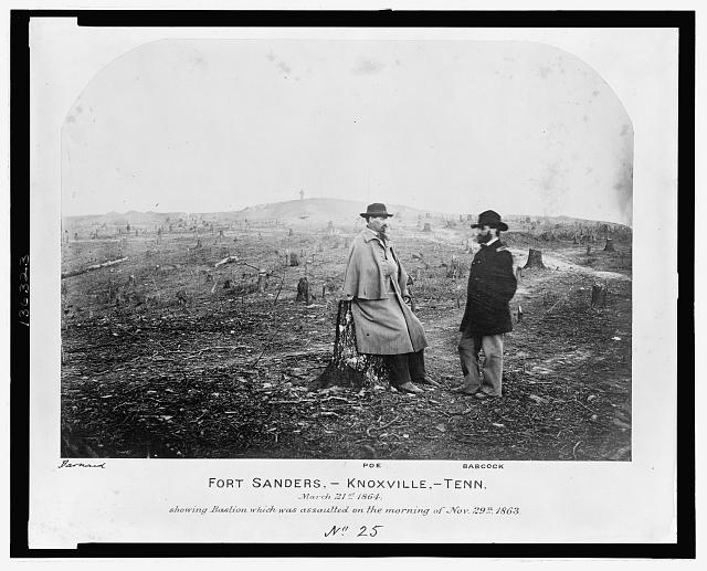 Fort Sanders, Knoxville, Tenn., March 21, 1864, showing Bastion which was assaulted on the morning of Nov. 29, 1863