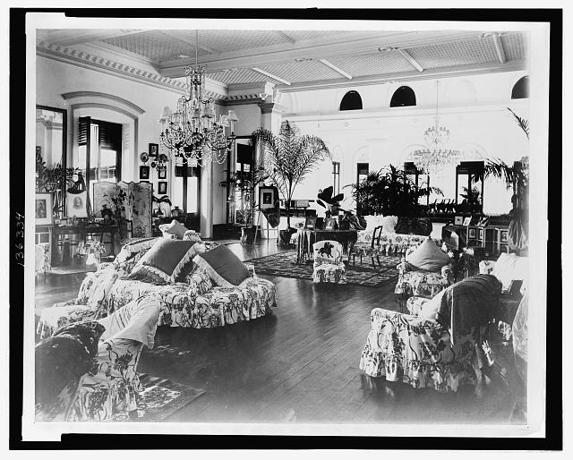 [Interior of a home, probably that of the Govenor-General, Port of Spain,Trinidad and Tobago]