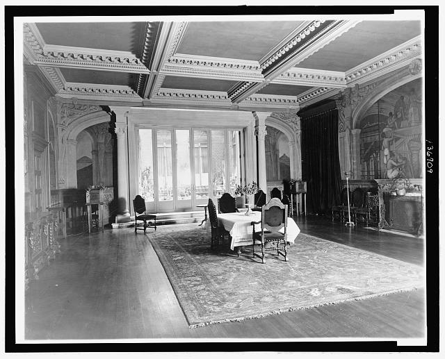 [Dining room at the Mexican Embassy, Washington D.C.]