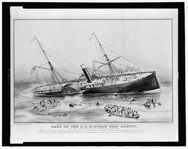 Loss of the U.S.M. steam ship Arctic: off Cape Race Wednesday September 27th 1854