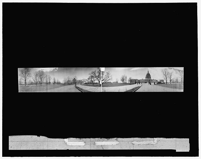 Cycloramic view of the Capitol and Congressional Library at Washington, D.C.