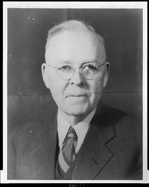 [Homer Daniel Angell, Republican Congressman from Oregon 3rd District, head-and-shoulders portrait, facing front]