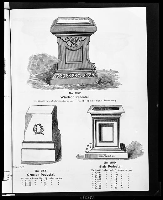 [Three designs for ironwork pedestals for vases]