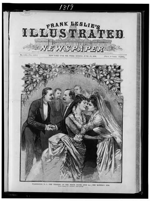 Washington, D.C.--The wedding at the White House, June 2nd--the mother's kiss