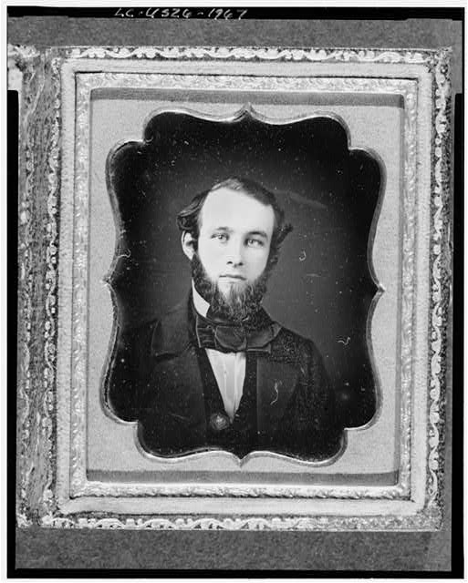 [Unidentified man, possibly Lyman Fiske, head-and-shoulders portrait, full face]