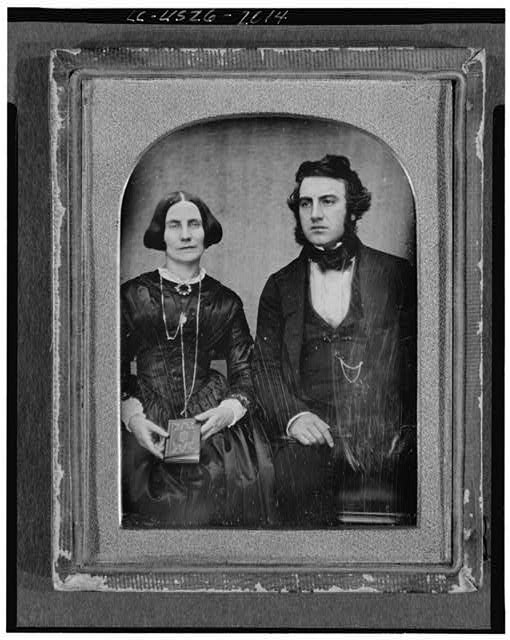 [David and Ellen Bell, three-quarter length portrait, seated]