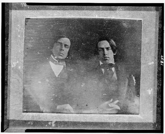 [Nathaniel Ruggles Childs and Albert Childs, half-length portrait, facing front]
