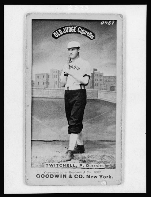 [Larry Twitchell, Detroit Wolverines, baseball card portrait]