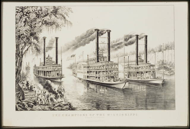 Mississippi steamboat race