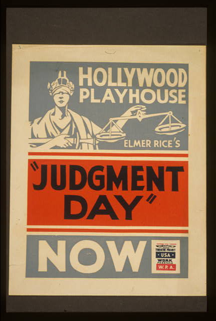 "Elmer Rice's ""Judgment day"""