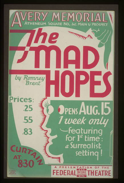 The mad hopes by Romney Brent featuring for 1st time: a Surrealist setting!