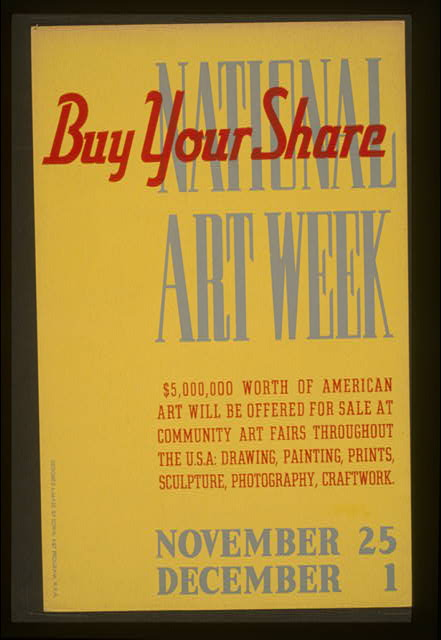 National Art Week Buy your share /
