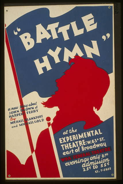 """Battle hymn"" a new play about John Brown of Harpers Ferry by Michael Blankfort and Michael Gold At the Experimental Theatre."