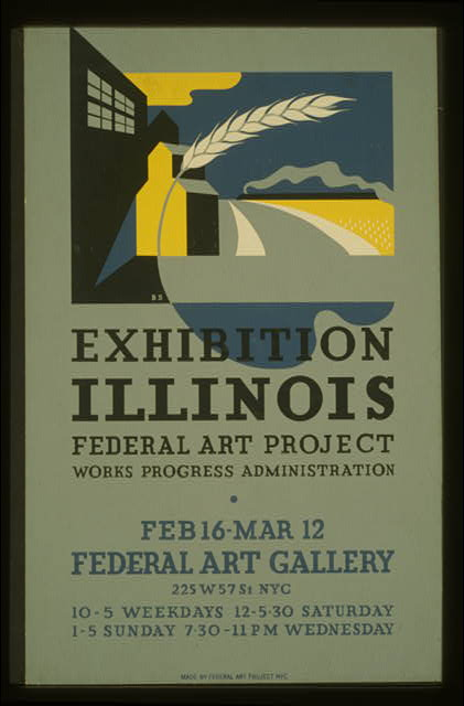Exhibition Illinois Federal Art Project Works Progress Administration /