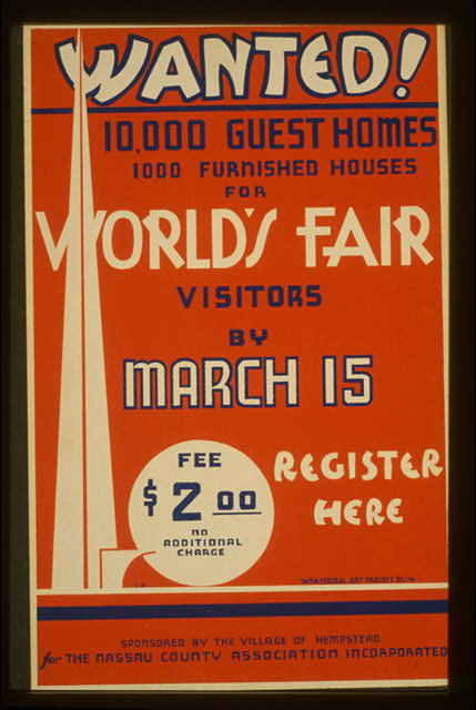 Wanted! 10,000 guest homes, 1000 furnished houses for World's Fair visitors by March 15