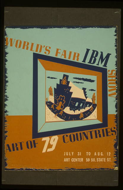World's fair IBM show Art of 79 countries.
