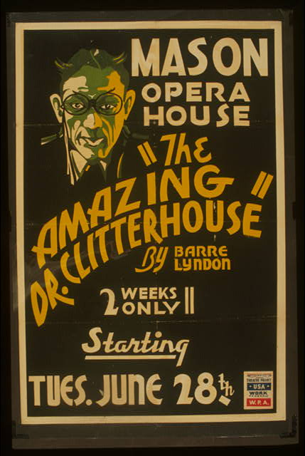 """The amazing Dr. Clitterhouse"" by Barre Lyndon"