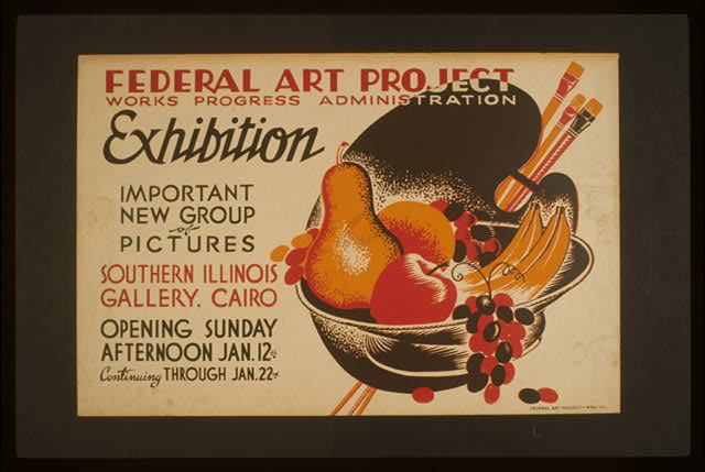 Federal Art Project Works Progress Administration exhibition Important new group of pictures.