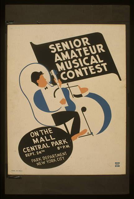 Senior amateur musical contest On the mall, Central Park /