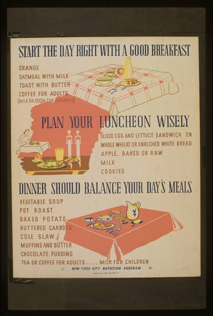Start the day right with a good breakfast Plan your luncheon wisely : Dinner should balance your day's meals.